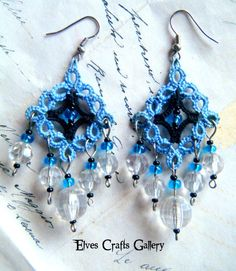 Gothic Gipsy Gothic blue and black Tatted by Elvescraftsgallery, zł95.00