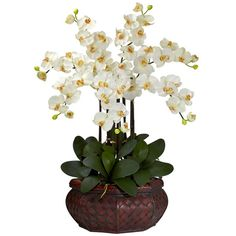 Our Large Phalaenopsis Silk Flower Arrangement - available in 8 colors.