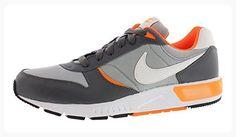 Nike Nightgazer (GS) Women's Running Shoes (6.5 Big Kid M, Grey/Orange) (*Partner Link)