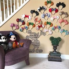 """8,829 Likes, 195 Comments - Disney At Home (@disney_at_home) on Instagram: """"Our friend @chaos_and_couture has the happiest corner in her home! We love this so much, thank you…"""""""