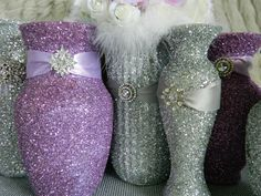 purple and silver wedding centerpieces | Wedding Decoration, Wedding Centerpiece, Silver, Lavender, Silver ...