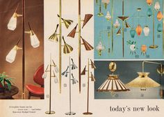 mid mod lighting from Spiegel 1961