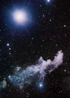 Witch Head Nebula and the star Rigel