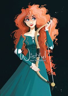 Merida (Drawing by Wistful.Art @Facebook) #Brave