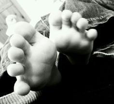 Tiny feet! (Harry's feet!)