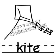 Clip Art: Kite 2 B - preview 1