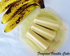 4 Ingredient Banana Cream Pie Popsicles - dairy free all natural Healthy Vegan Desserts, Raw Desserts, Raw Vegan Recipes, Healthy Meals For Kids, Vegan Sweets, Frozen Desserts, Organic Recipes, Snack Recipes, Snacks