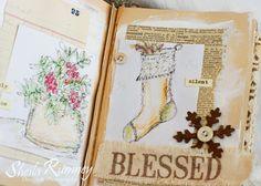 Christmas Art Journal Watercolors www.sheilarumney.com