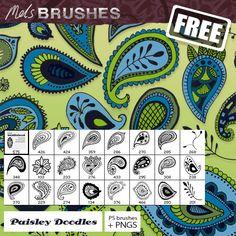 free photoshop brush set, Paisley Doodle