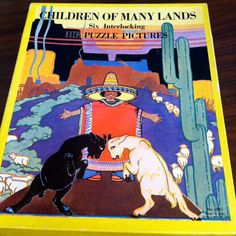 Vintage Children of Many Lands Six Interlocking Jigsaw Puzzle Pictures Platt & Munk Co. Art by Holling C Holling No. 150C by vintagebaron on Etsy