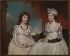 James Earl - Portrait of Elisabeth Fales Paine and Her Aunt - - Rhode Island School of Design Museum - Category:James Earl - Wikimedia Commons The Band Perry, 18th Century Fashion, Historical Clothing, Historical Dress, Female Clothing, Portrait Art, Portraits, Empire Style, Design Museum