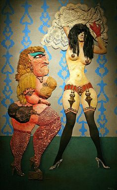 Have just discovered Antonio Berni and felt in love with him. Arte Latina, Collage Sculpture, Collages, Social Realism, Powerful Women, Art Forms, Graffiti, Disney Characters, Fictional Characters