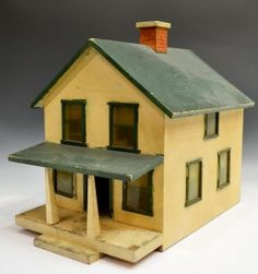 Yellow House, nice old house with great old colors. .....Rick Maccione-Dollhouse Builder www.dollhousemansions.com