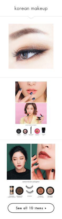 """korean makeup"" by riasharina ❤ liked on Polyvore featuring makeup, image, pics, pictures, beauty products, lip makeup and beauty"