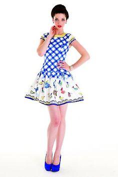 Mackenzie Mode Gingham and Tea Dress