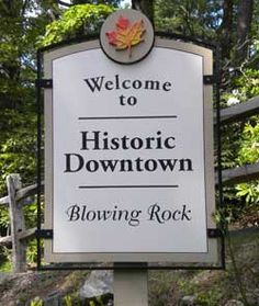 Welcome to historic downtown Blowing Rock in the North Carolina High Country!