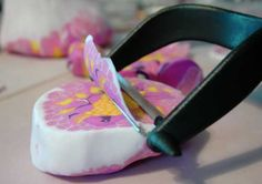 Use a vegetable peeler to make thin slivers of soap to make single use soap petals or leaves.