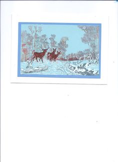 Another one of my favorite winter scenes, which I stamped.