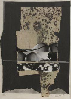 Collage by Libor Fára (1925-1988), 1981, Černá neděle (Black Sunday). #CzechArt