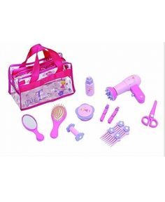 Sparkle T Wooden Hair Time comes packaged in a printed pvc carry bag. Contains all the items any budding hair dresser would need to decorate and style their own or friends hair.  #moosaidthecow #playtime #kids #wishlist #toy #hairdresser