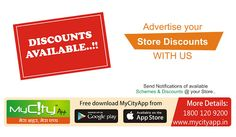 Advertise your store discount...... only on MyCityApp !! #Online #Promotions #advertise #discount  http://bit.do/mycityAppG