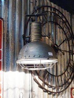 Suspension style industriel, déco industrielle, Antic Line