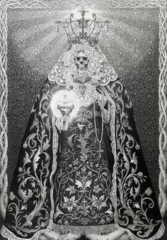 santa muerte hecha a lapiz                                                                                                                                                      More