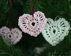 Learn how to crochet these tiny delicate hearts with thread