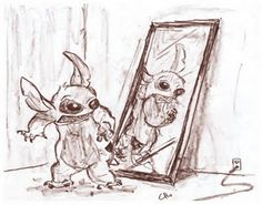 Stich, From Lilo and Stich is probably the best character ever.   Disney  http://chrishillustration.blogspot.com/