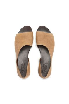 Camel Open toe womens shoes by WalkByAnatDahari on Etsy, $180.00