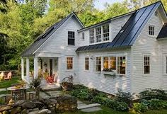Image result for metal roof on colonial house