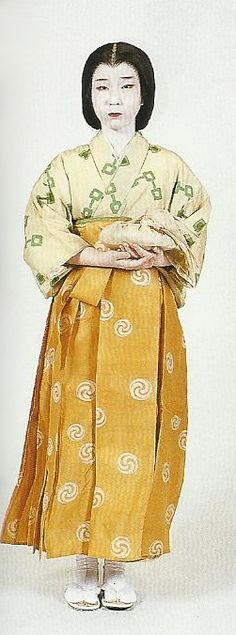 """Scan from book """"The History of Women's Costume in Japan."""" Scanned by Lumikettu of Flickr. Japanese costume many centuries ago…"""