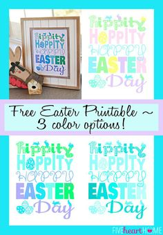 Free Easter Printable Hippity Hoppity Happy Easter Day