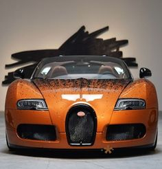 Emmy DE * Bugatti Veyron Grand Sport Venet On Display In Beverly Hills