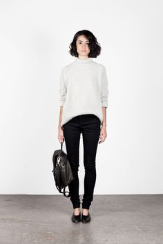 chunky knits + skinny jeans + leathers.