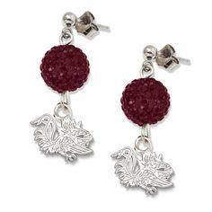 South Carolina Gamecocks Ovation Crystal Earrings