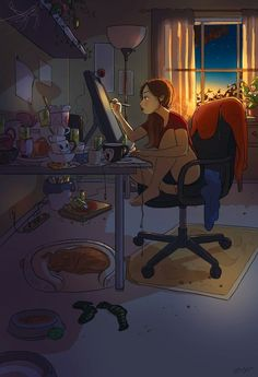 According to Christopher McCandless, happiness is only real when shared, but LA-based artist Yaoyao Ma Van As disagrees. To highlight this, she has created a colorful illustration series that celebrates the intimacy of living alone. Art And Illustration, Illustrator, Alone Art, Art Mignon, Aesthetic Art, Cartoon Art, Cute Art, Art Girl, Character Art