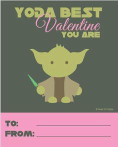 Free Yoda Valentine Printable {for Girls