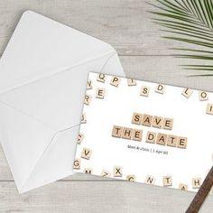Rustic Save the Date  Printable Save the Date  Downloadable image 1 Scrabble Tile Art, Scrabble Letters, Announcement Cards, Wedding Announcements, Scrabble Wedding, Happy Birthday Printable, Printable Cards, Printables, Rustic Save The Dates