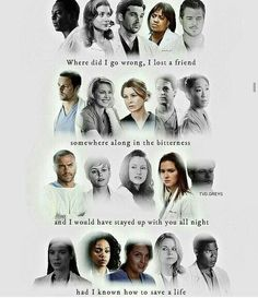 Grey's Anatomy all the people and only few left Greys Anatomy Shirts, Grey Anatomy Quotes, Greys Anatomy Memes, Greys Anatomy Characters, Best Tv Shows, Best Shows Ever, Favorite Tv Shows, Grey Quotes, Tv Quotes