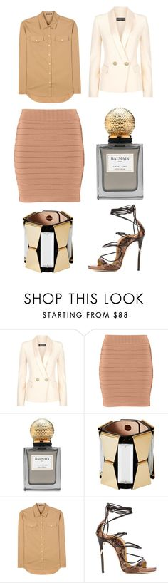 """""""Untitled #3182"""" by fashionhypedaily ❤ liked on Polyvore featuring Balmain and Dsquared2"""