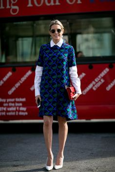 Helena Bordon in Paris Fashion week, street styling