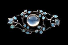 "venusmilk: ""Jessie M. King 1873-1949 (Scottish) Liberty & Co Brooch Silver Gold Enamel Moonstone """