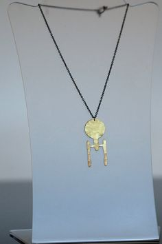 :O I can't say enough about this Star Trek Enterprise Frosted Brass Necklace! I would so wear it. lol