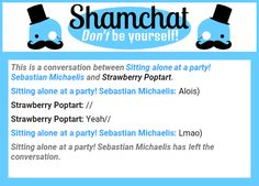 A conversation between Strawberry Poptart and Sitting alone at a party! Sebastian Michaelis