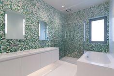 Whitford Estate: Bathroom Sfumature Bisazza Custom Blend https://www.tiles.co.nz/About/News/ArticleID/78/Stunning-Bisazza-Custom-Blends-at-Whitford-Estate Designer: Jason Bonham from Bonham Interiors Photography: Mark Cowen