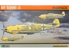 The Eduard Messerschmitt Bf 109E-3 in 1/32 scale from the plastic aircraft model range accurately recreates the real life German fighter aircraft flown during World War II. This plastic aircraft kit requires paint and glue to complete.