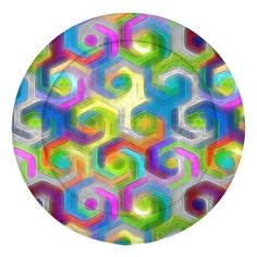 Colorful Hexagons Pattern