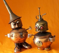 ERNEST AND LULU - Jewelry Box Robots - Reclaim2Fame by Reclaim2Fame, via Flickr