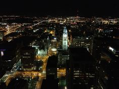 View from the 52nd Floor; the Pyramid Club in Philadelphia.  One of the best views of the city!